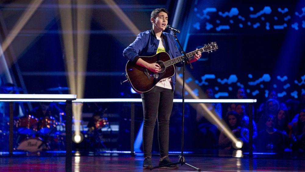 Actuación Julio Gómez 'Redemption song' en los Asaltos de 'La Voz Kids'