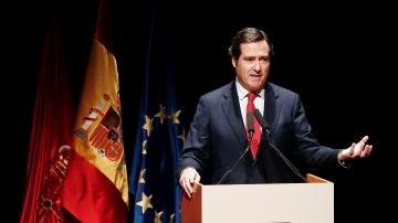 El presidente de la CEOE, Antonio Garamendi