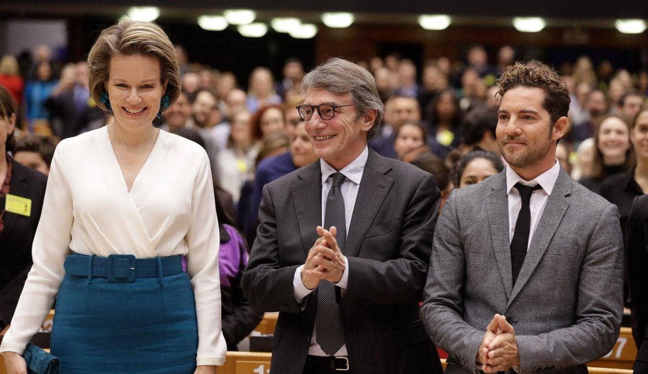 Bisbal, como embajador de Unicef, asiste al Parlamento Europe