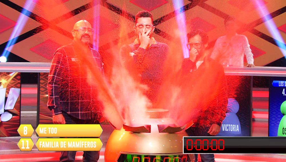 'Los Dispersos', a solo dos preguntas de conseguir los 995.000€ del bote de '¡Boom!'