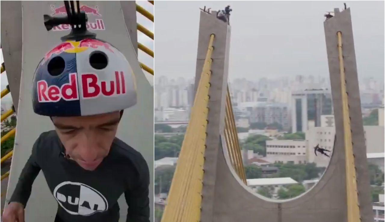 Sandro Dias y su locura sobre un puente en Sao Paulo
