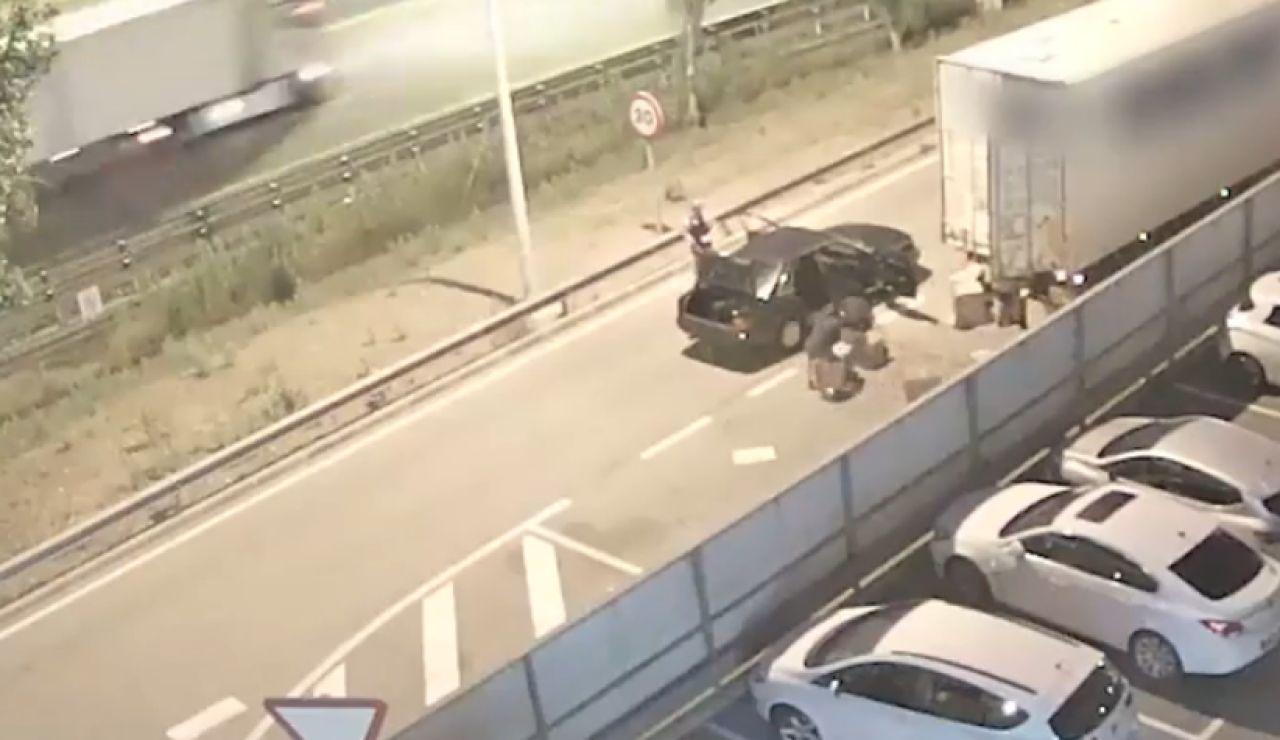 Robaban cuando los camioneros paraban a descansar