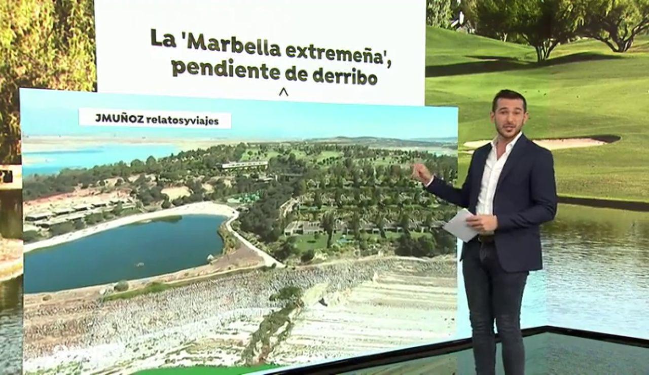 El Constitucional anula la recalificación que permitió construir el complejo de lujo 'Isla de Valdecañas' en Extremadura con 180 villas, un hotel y una playa artificial