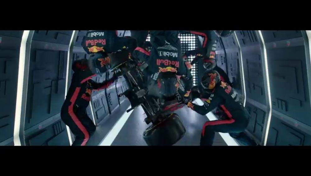Red Bull realiza un pit stop de Fórmula 1 con gravedad cero