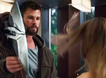 Thor y Capitana Marvel en 'Vengadores: Endgame'