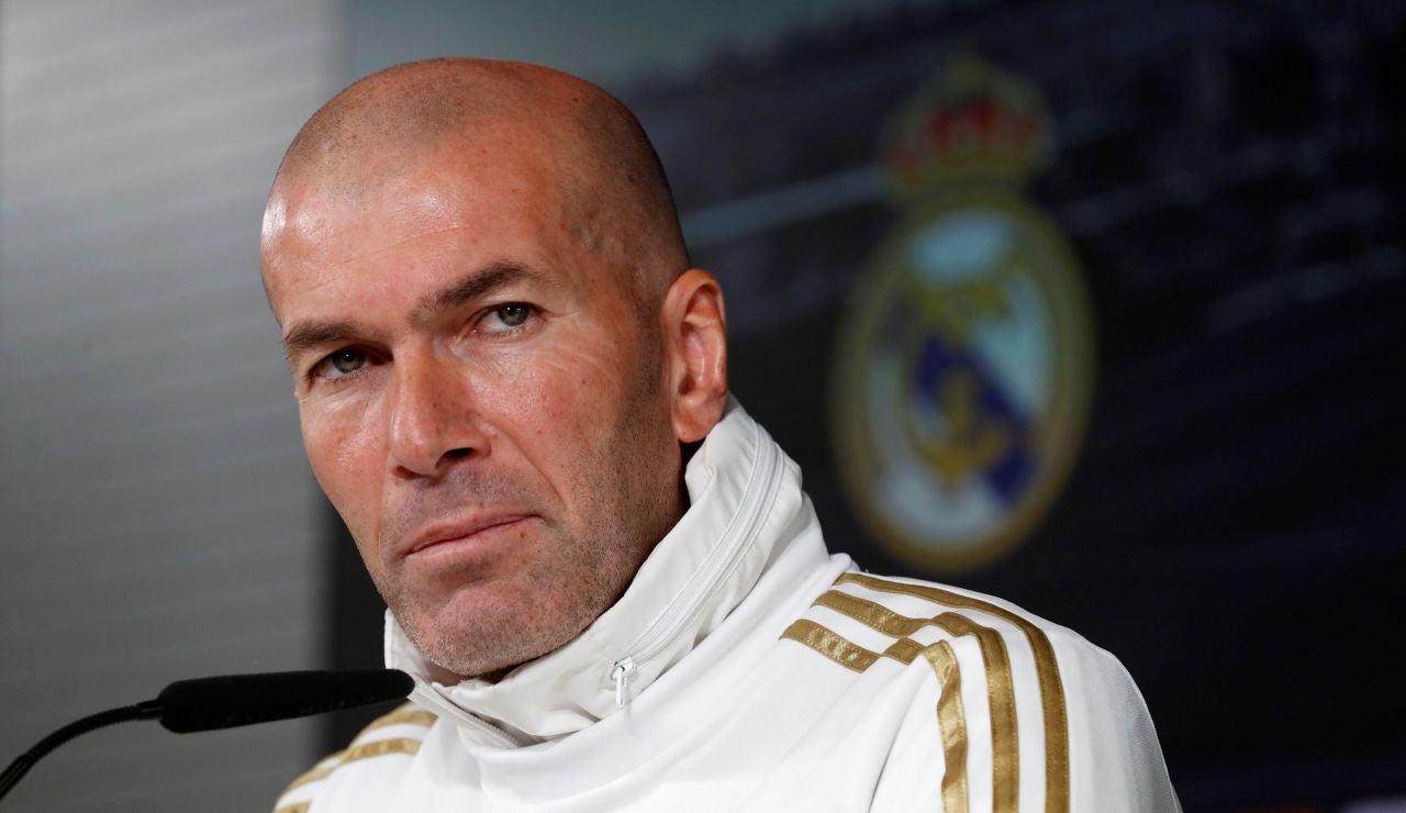 Zinedine Zidane, durante una rueda de prensa