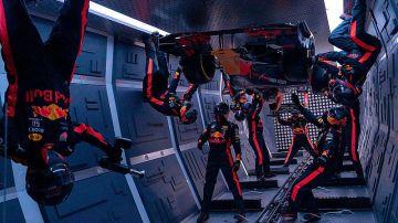 El increíble pit-stop de Red Bull sin gravedad