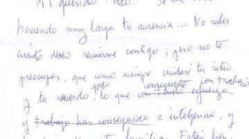 Carta de Asunción Balaguer a Paco Rabal