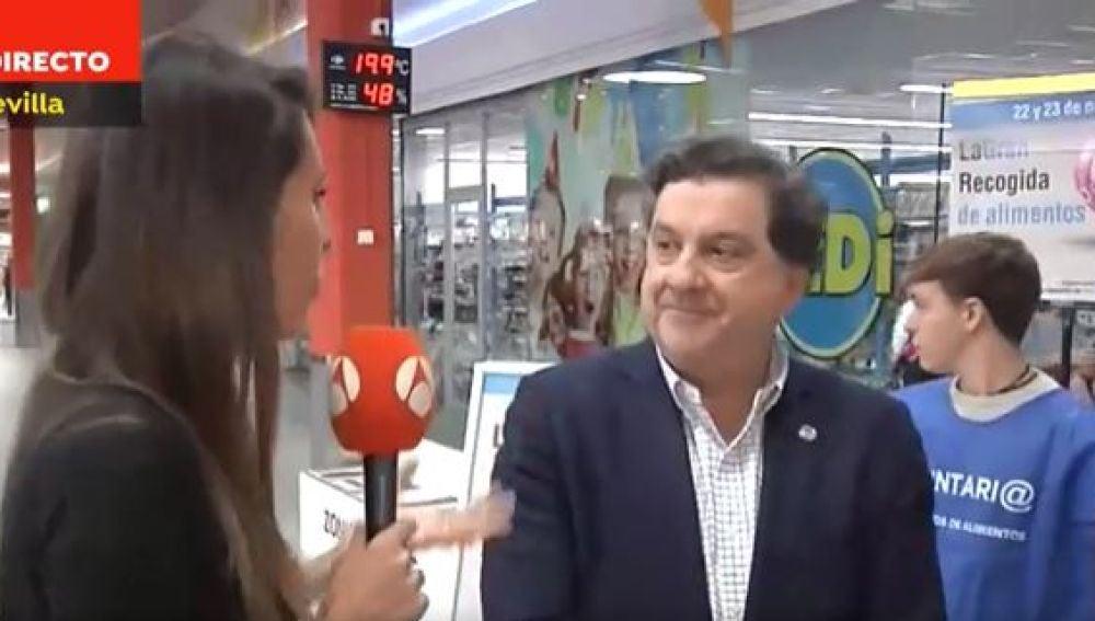 Agustín Alcaraz, vicepresidente del Banco de Alimentos de Sevilla
