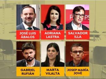 Mesa de negociación PSOE - ERC