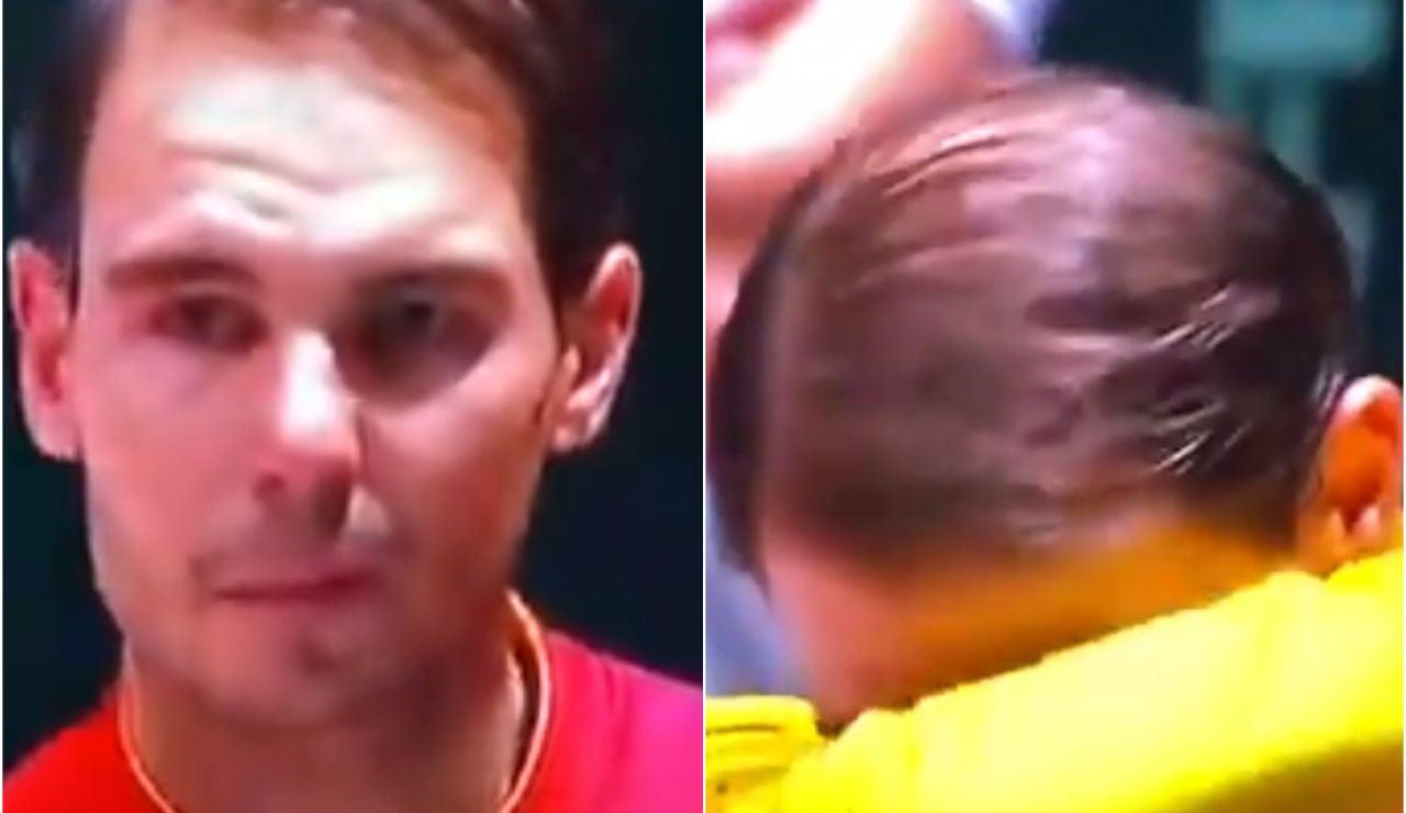 Rafa Nadal se emociona tras ganar la Copa Davis