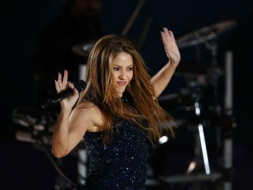 Shakira, actuando en la Copa Davis