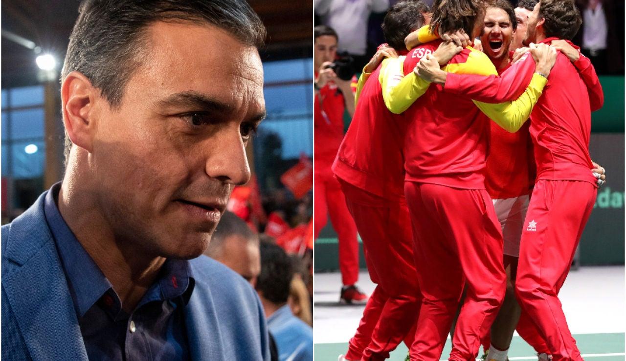 Pedro Sánchez felicita al equipo español de la Copa Davis