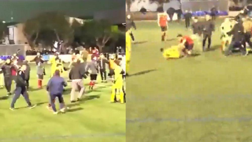 Multitudinaria pelea en el fútbol mallorquín