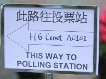 Afluencia masiva en apertura de urnas en Hong Kong tras meses de protestas