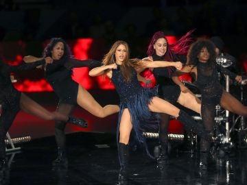 La actuación de Shakira en la Caja Mágica