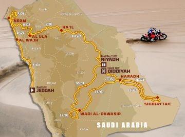 Por primera vez el Dakar se disputará integramente en Arabia Saudí
