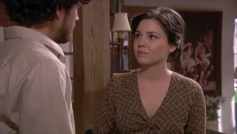 La romántica declaración de amor de Matías a Marcela
