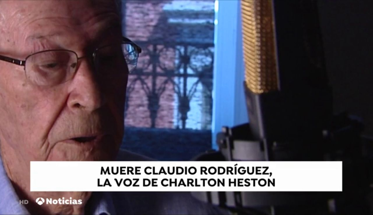 Muere Claudio Rodríguez, doblador de Charlton Heston o Burt Lancaster