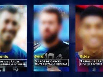 La Fiscalía pide cinco años de cárcel para los futbolistas Sergi Enrich y Antonio Luna por la difusión de su vídeo sexual