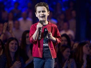 Daniel García canta 'El mundo' en la Semifinal de 'La Voz Kids'