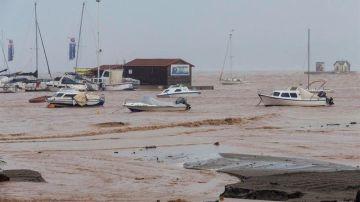 Embarcaciones en Los Alcázares (Murcia) afectados por la DANA