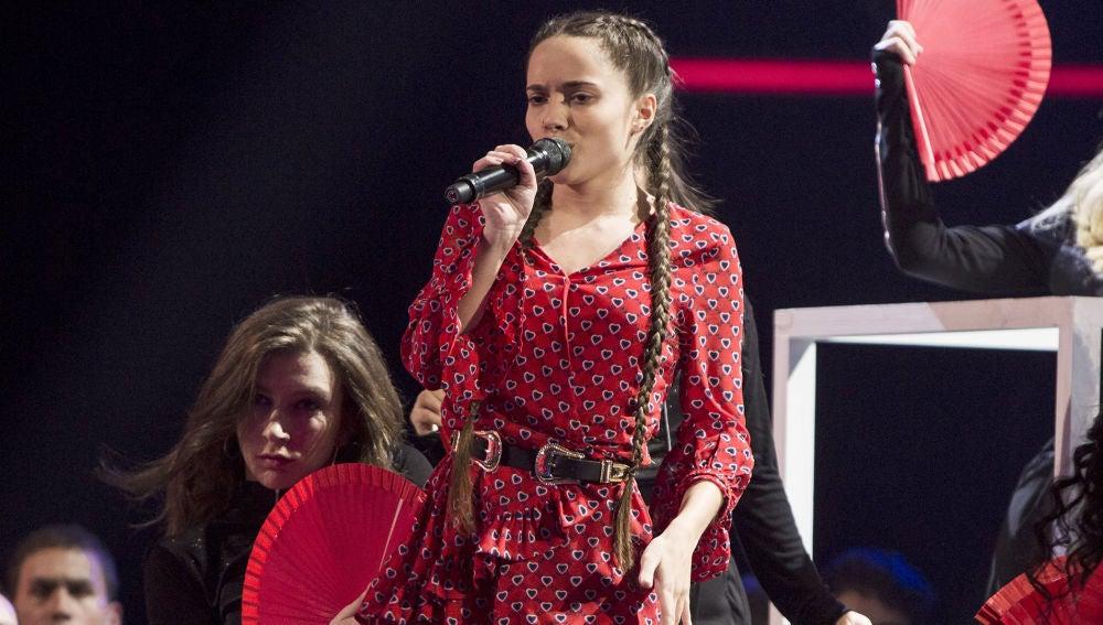Sara Gálvez canta 'Perdón' en la Semifinal de 'La Voz Kids'