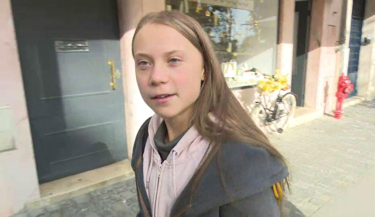 Greta Thunberg en Lisboa