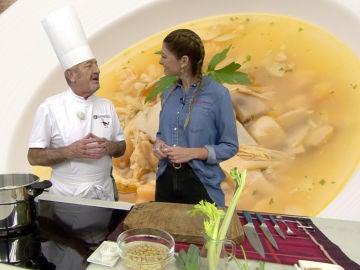 Las virtudes de la sopa de pollo