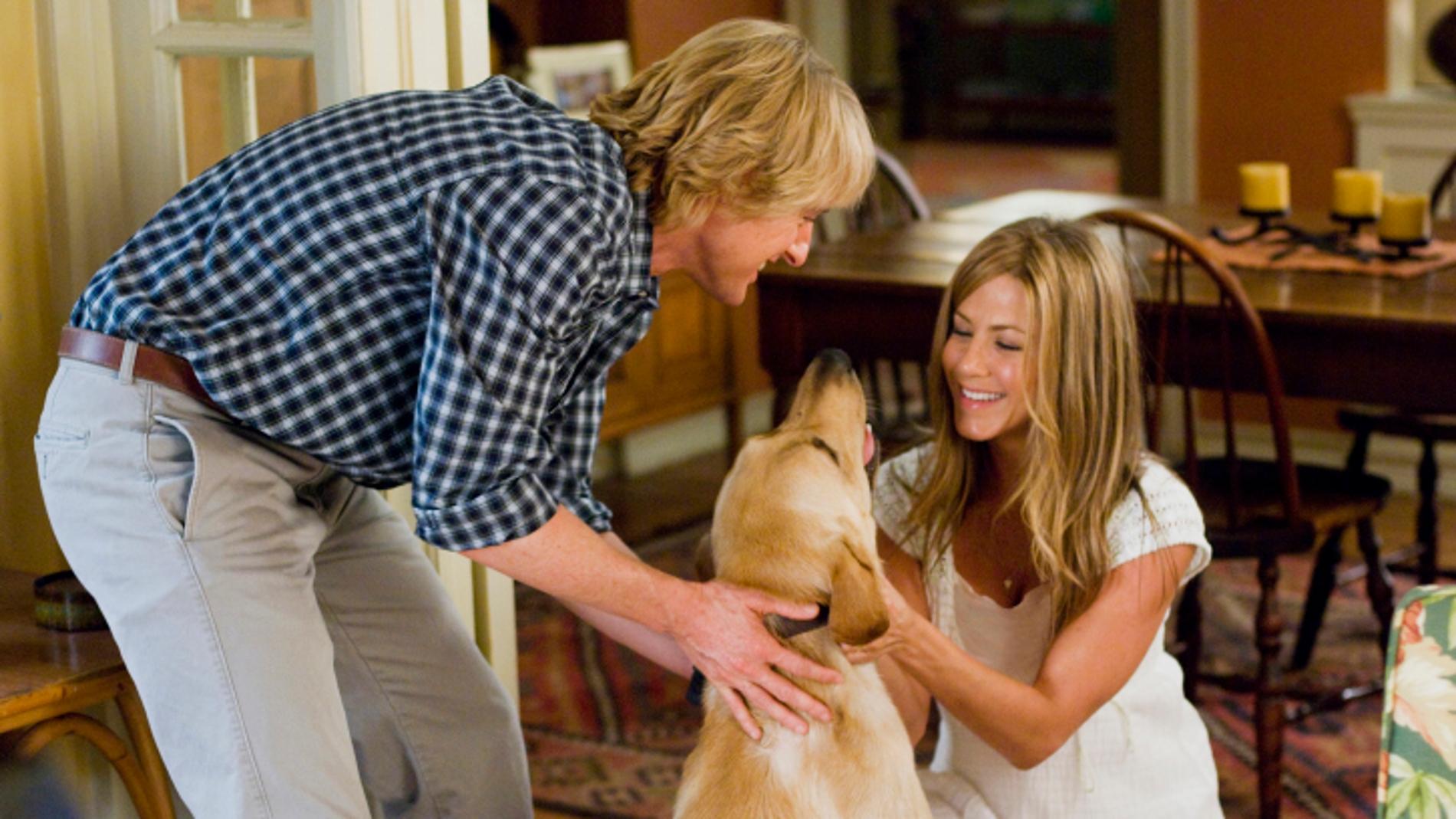 Owen Wilson y Jennifer Aniston en 'Marly y yo'