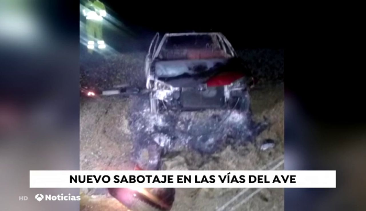 Sabotaje en las vías del AVE en Girona