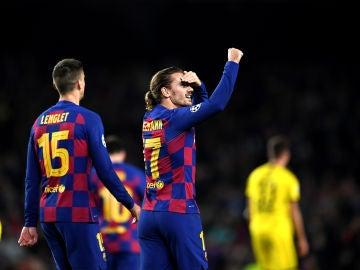 Inter de Milán - Barcelona: Griezmann y Lenglet durante un partido de Champions
