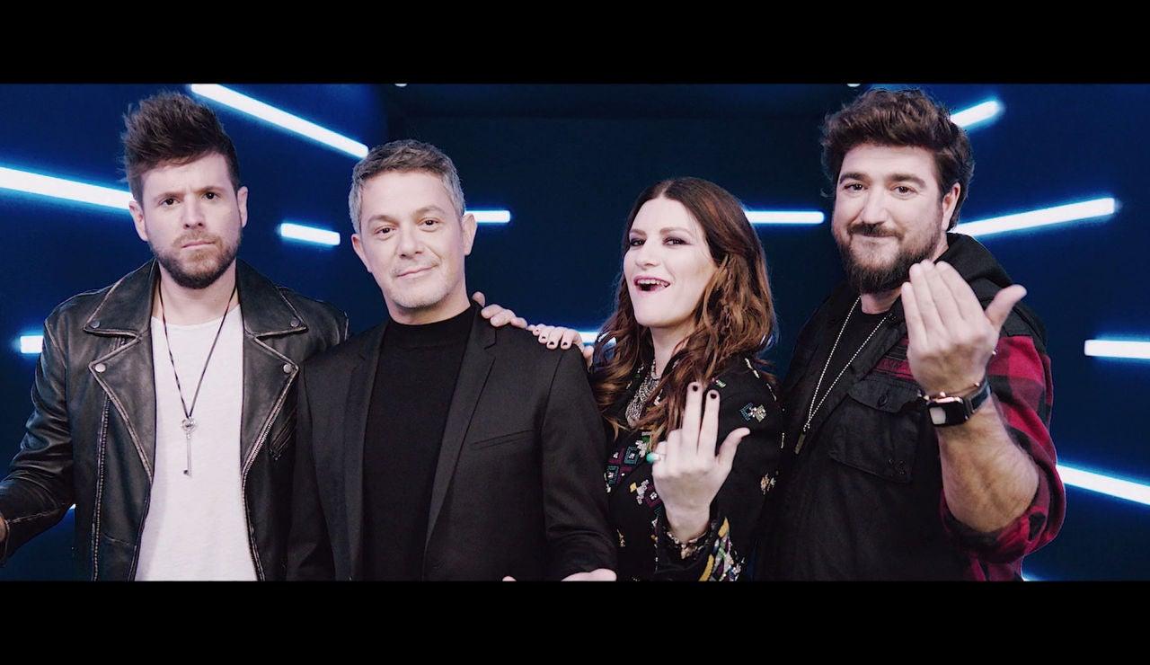 Alejandro Sanz, Antonio Orozco, Pablo López y Laura Pausini en 'La Voz' 2020