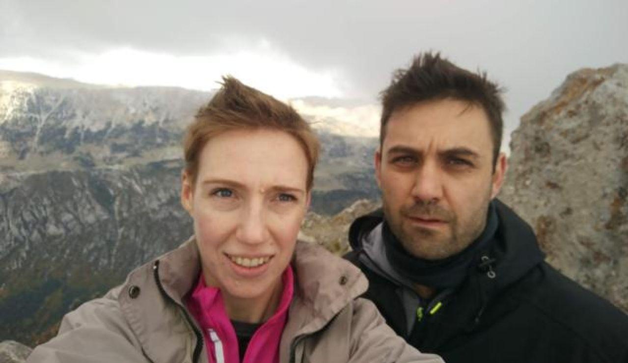 Audrey Mash junto a su marido