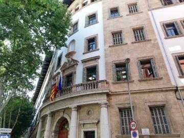 El edificio de los Juzgados de Palma, en Avenida Alemania