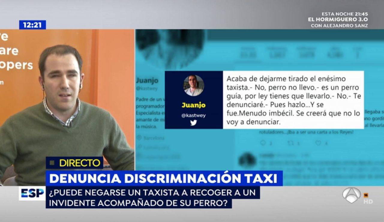 Denuncia discriminación taxi.