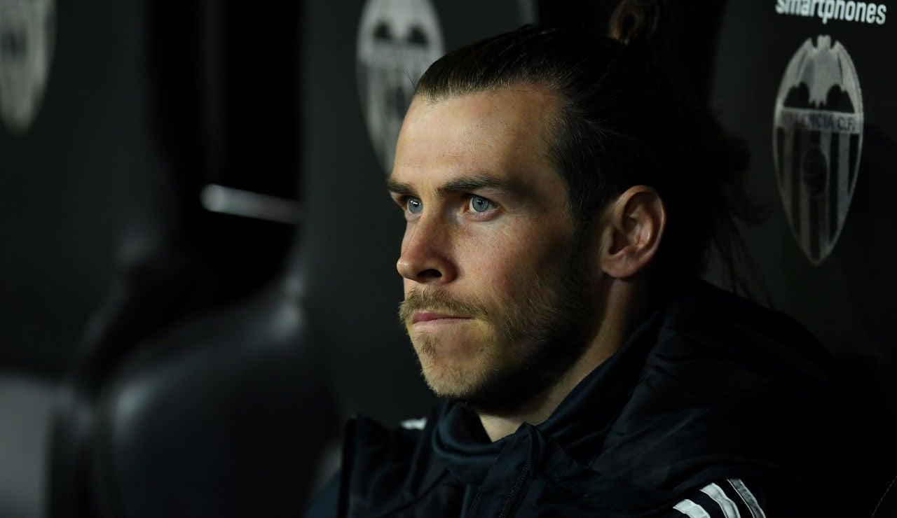 Gareth Bale durante un partido con el Real Madrid