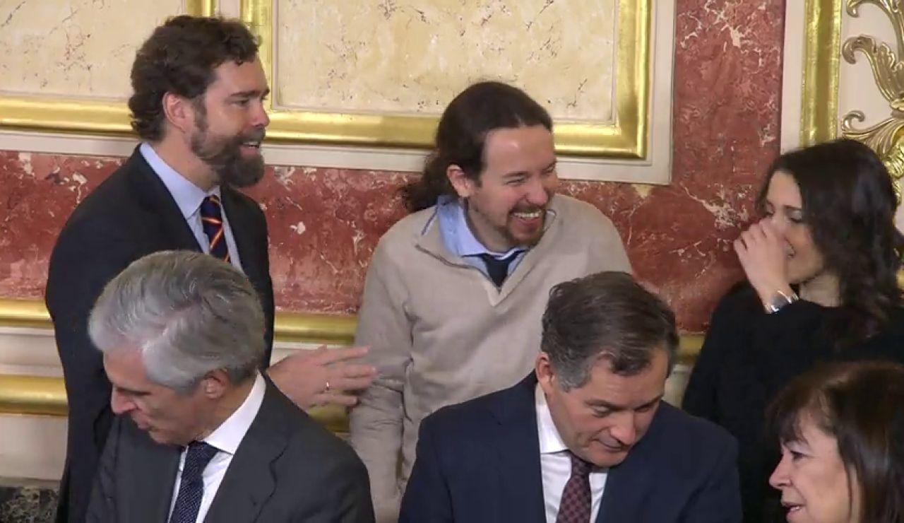 Arrimadas, Iglesias y Espinosa de los Monteros se divierten