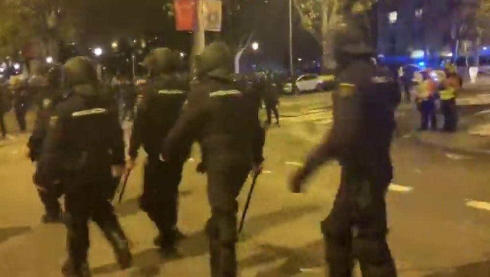 Altercados durante la Marcha por el Clima: la Policía carga contra varios encapuchados
