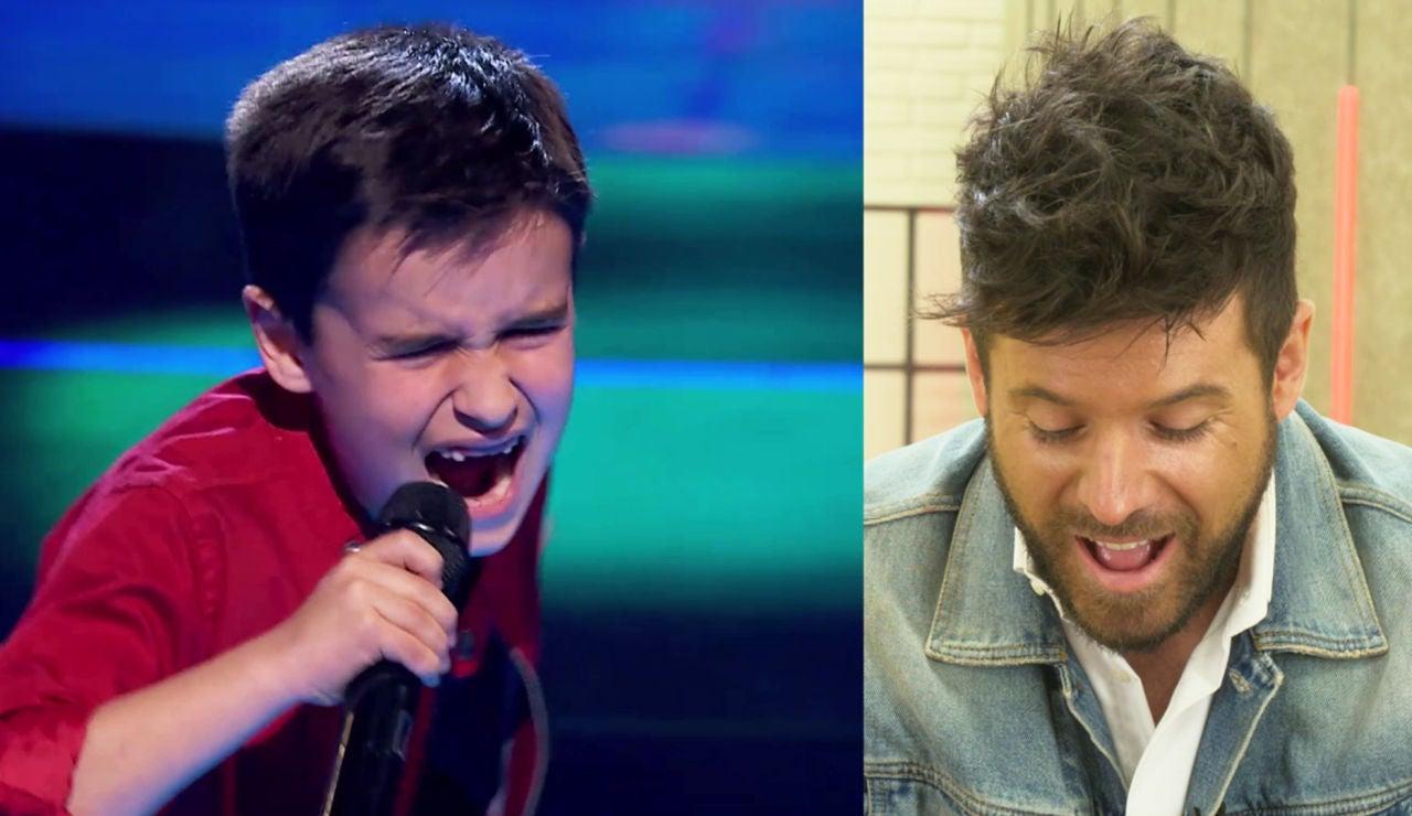 Pablo López reacciona ante la espectacular actuación de Daniel García en 'La Voz Kids' cantando 'El mundo'