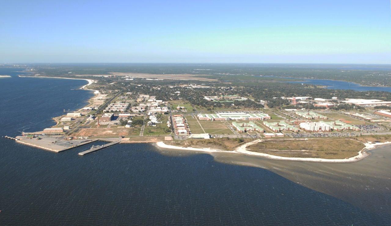 La estación aérea naval de Pensacola en una vista aérea