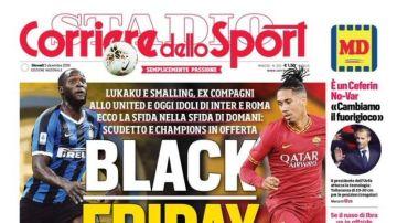 Portada del Corriere dello Sport