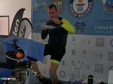 El impresionante récord de Miguel Ángel Castro, siete días pedaleando