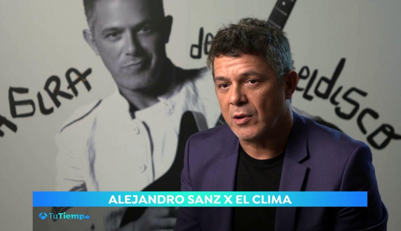"""Alejandro Sanz en TuTiempoXElClima: """"Hay que intentar ser personas con emisiones cero"""""""