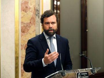 El portavoz de Vox Iván Espinosa de los Monteros,