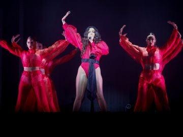 Rosalía en su concierto en Barcelona