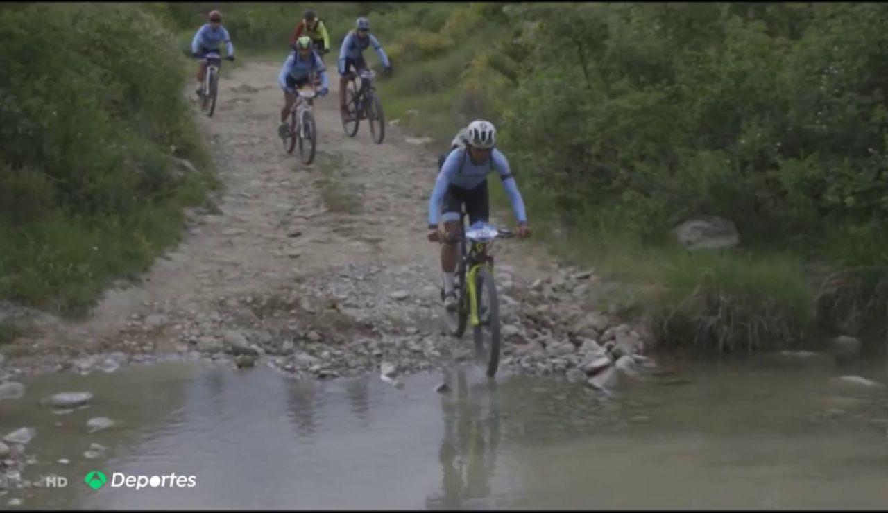 """Un equipo de """"Campeones"""" ha recorrido la Tanspirenaica en bicicleta"""