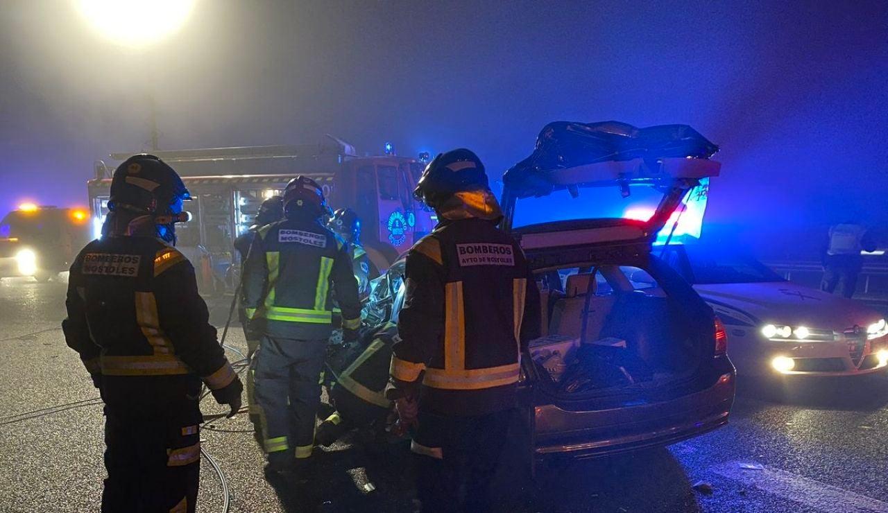 Accidente de tráfico en Móstoles, Madrid
