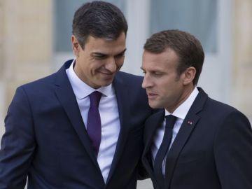 Pedro Sanchez Emmanuel Macron_643x397