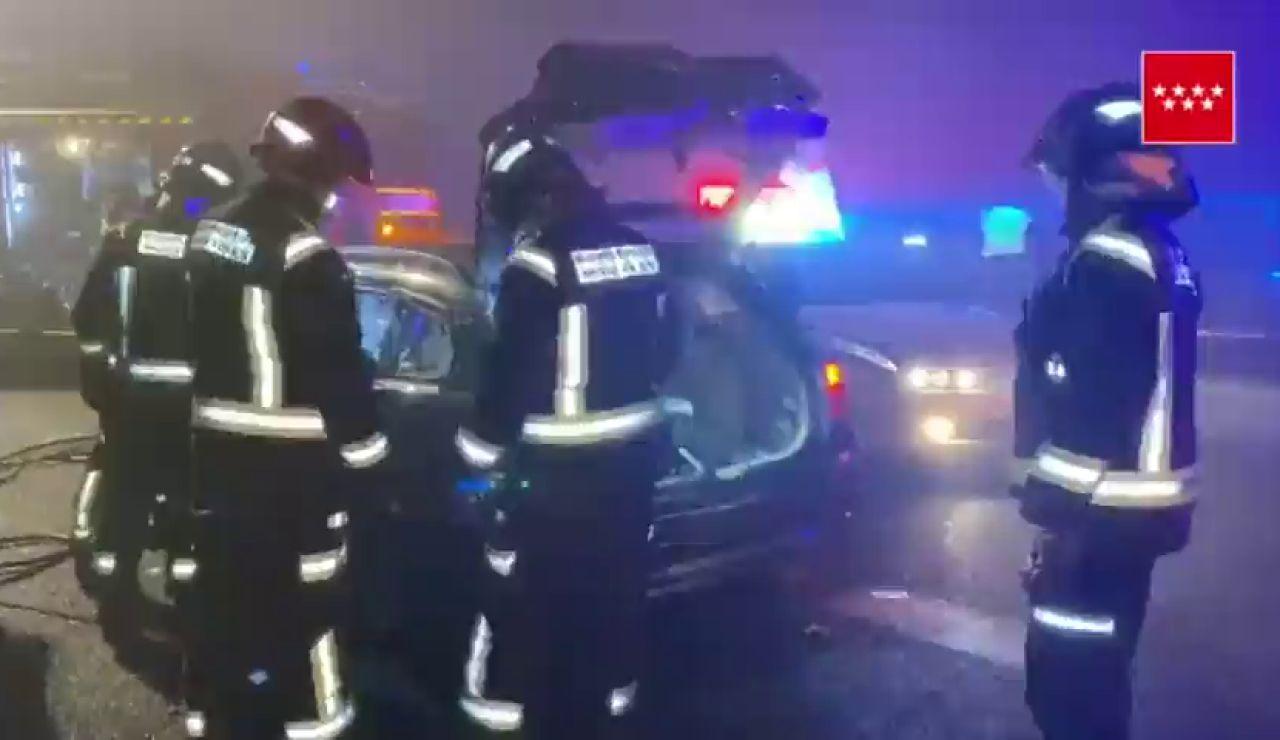 Un muerto en un accidente provocado por un kamikaze que circulaba en sentido contrario en Madrid